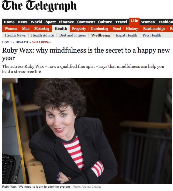 Ruby Wax Het-centrum-van-zijn Mindfulness