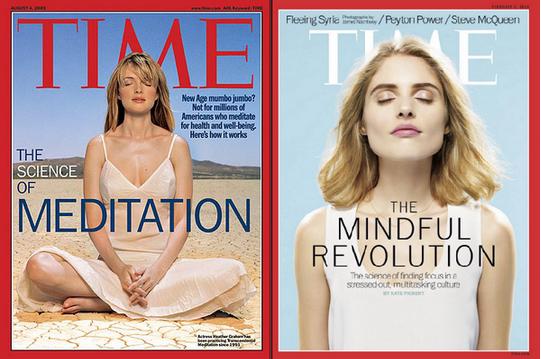 Beeldvorming mindfulness vaak vrouwen en ondergaande zon. meer mannen